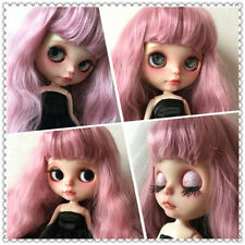 """30cm 12"""" Takara Nude Matte Face Blythe Doll 19 Joint Body + Wine Red Hair Head"""