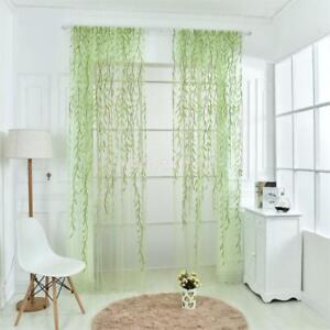 Elegante Weide Muster Vorhang, modische Gardine für Kinderzimmer - Grün