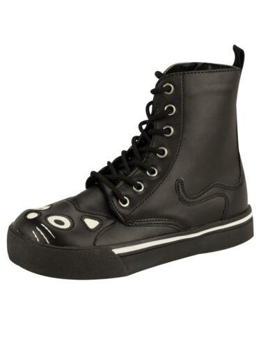 A6570 5006 Stiefel Schwarz Weiß k Boot T Anarchic Tuk u Katzenstiefel wBnzZSq