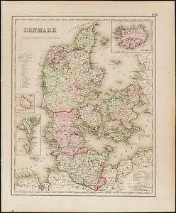Antique-Map-1857-of-Denmark-of-Colton-Antique-Map-of-Denmark