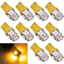 10pcs T10 5 SMD 5050 Xenon LED-Lampen 192 168 194 W5W 2825 158 Gelb