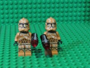Lot-of-2-LEGO-Star-Wars-Geonosis-Clone-Troopers-Minifigures-minifigs-GT1
