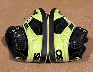 7c0dd534106 Osiris NYC 83 CLK Size 5 US Men's Lime Black Lime BMX DC Skate Shoes ...
