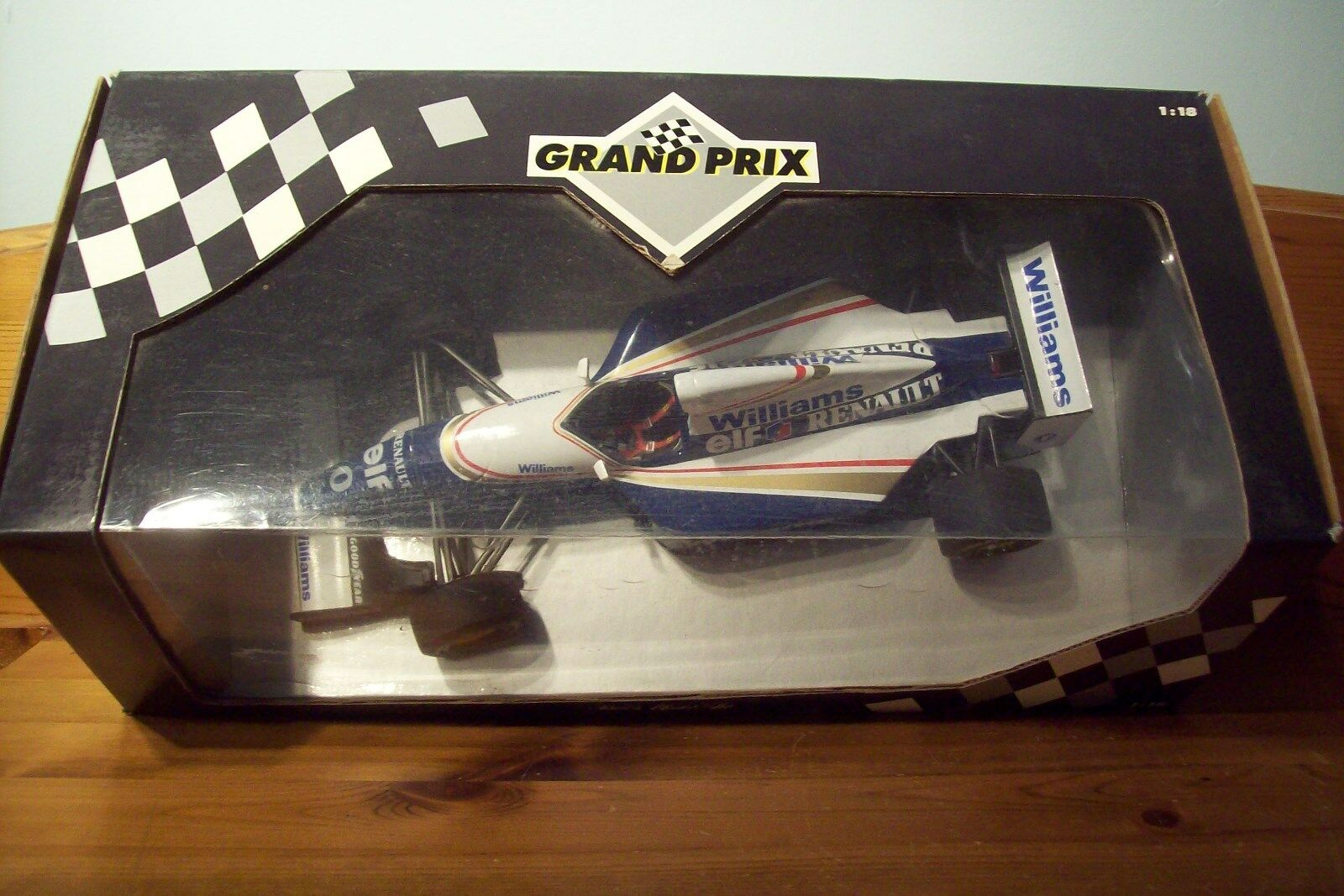 1/18 Williams FW15 Damon Hill 2018 Estoril prueba coche