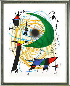Joan-Miro-Original-Lithogr-ORIGINAL-Graphic-Gruener-Mond-Green-Moon-1972