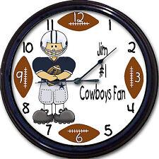 Dallas Cowboys Personalized Wall Clock NFL Football Texas Man Cave Custom New