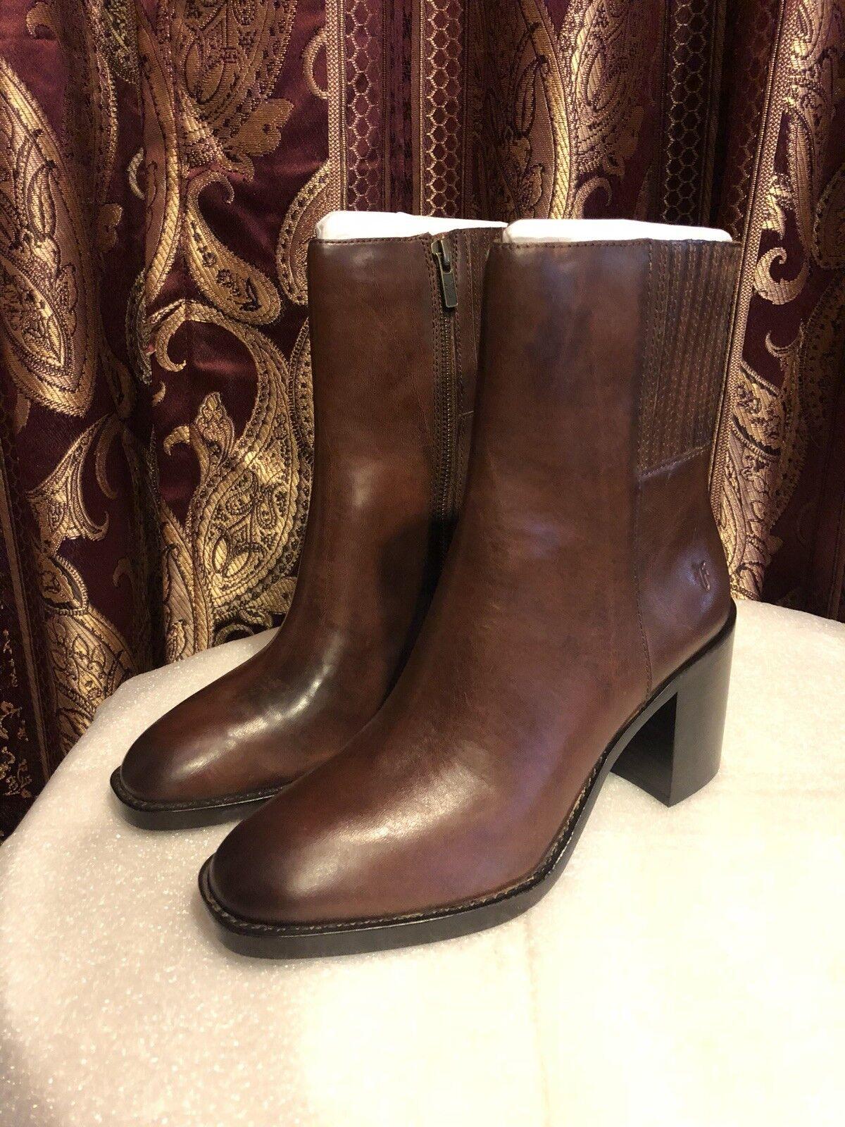 Frye Para mujeres Cuero Pia Chelsea Corto botas, Marrón Marrón Marrón (9.5M)  la mejor oferta de tienda online