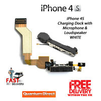 iPhone 4S Replacement Charging Dock Assembly + Microphone & Loud Speaker BLACK