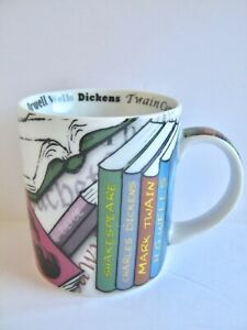 Classic-Books-Novel-Tea-Coffee-Mug-2011-Paul-Cardew-Shakespeare-Wells-Twain