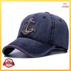 21b6c1a15 Details about Baseball Cap Hat Women Men Washed Soft Cotton Vintage Dad  Hats Anchor Style Caps