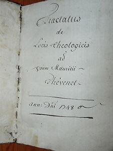 Manuscrit-Tractatus-de-locis-theologicis-Thevenet-Magland-Haute-Savoie-1748