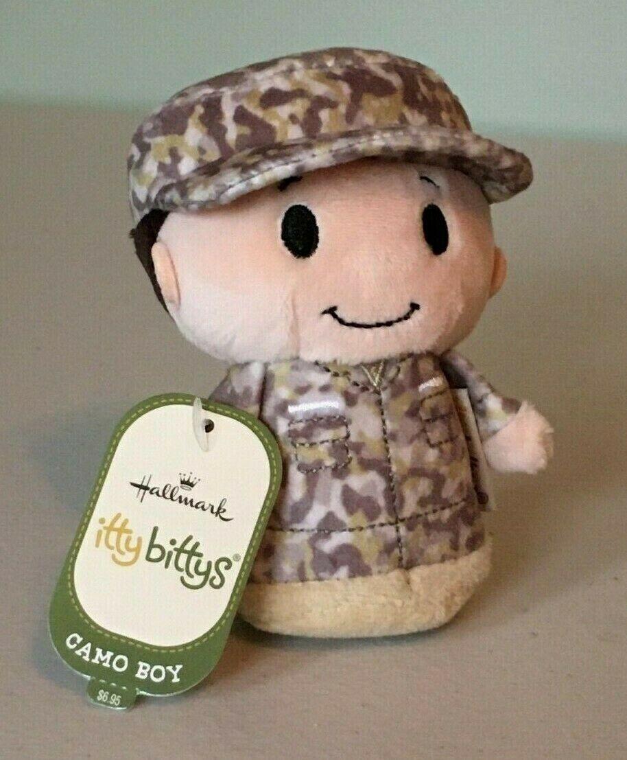 Hallmark Plush Itty Bittys Camo Girl Army Air Force Marine Military Gift NEW A7