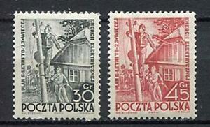 35609) Poland 1951 MNH New Electrification 2v