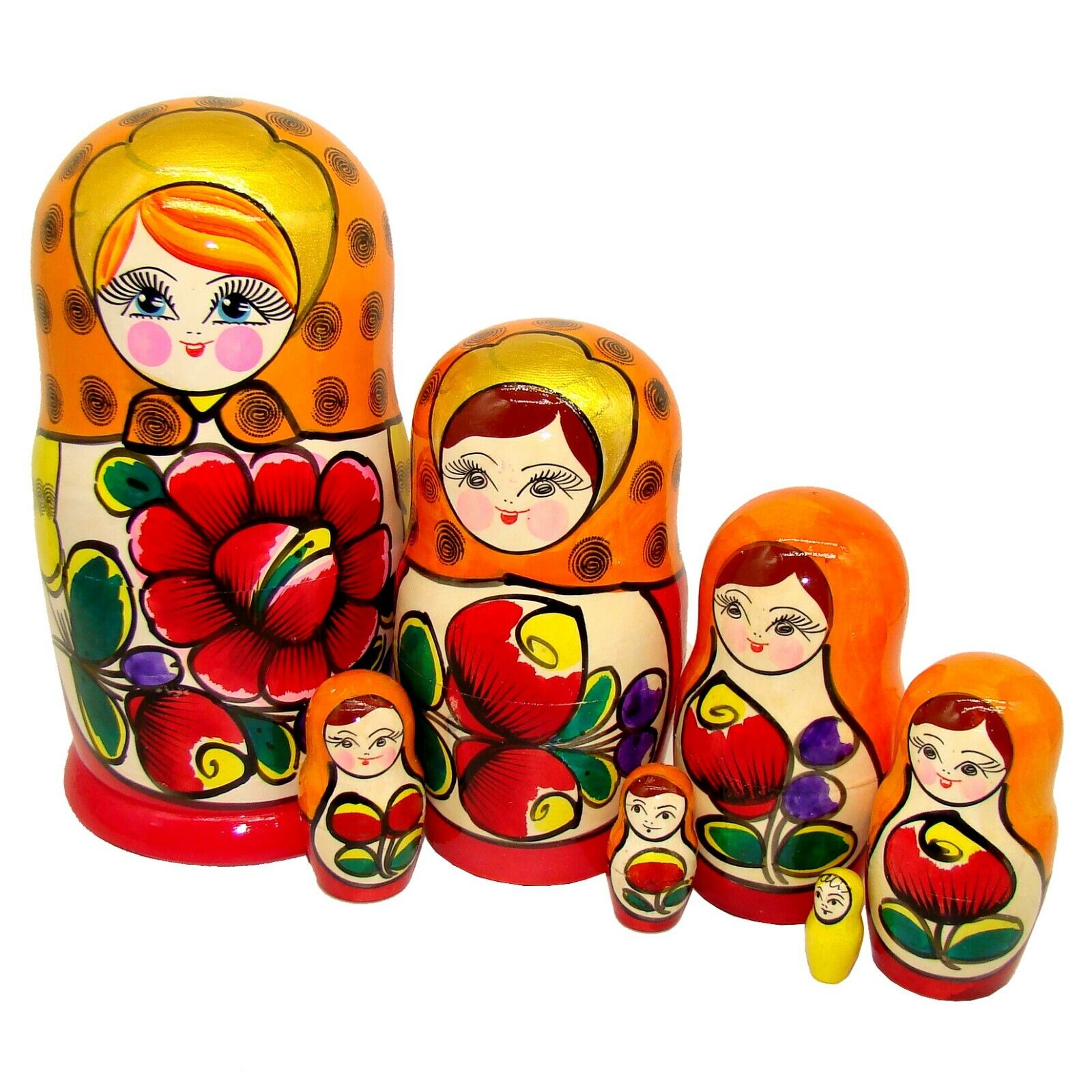 Poupée Russe grande Dimensione - Matriochka classique 7 pièces - Poupée Russe bois