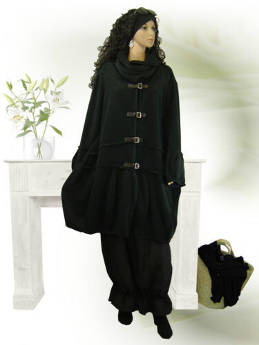 Mantel fuchsia XL-XXL-XXXL PoCo DeSiGn LAGENLOOK Exclusiv Fleece Jacke Ballon