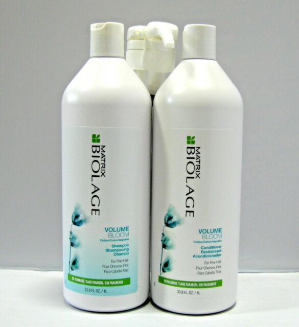 Biolage Volume Bloom Shampoo & Conditioner 33.8 oz Liter Set + PUMPS Volumebloom