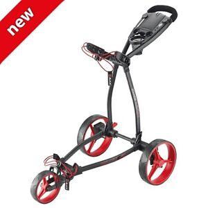 Big Max Blade + , 3 - Rad Golftrolley, ultraflach und leicht - black/red, neu!