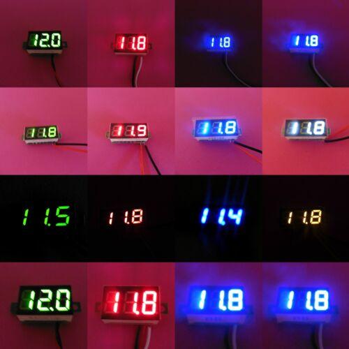 """Dos de tres cables 12V 24V 0.28/""""//0.36/"""" LED Voltímetro Digital Medidor de Voltaje"""