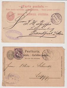 SCHWEIZ - 4 Ganzsachen-Postkarten ins Deutsche Reich - siehe Scans - D192 - Vechelde, Deutschland - SCHWEIZ - 4 Ganzsachen-Postkarten ins Deutsche Reich - siehe Scans - D192 - Vechelde, Deutschland