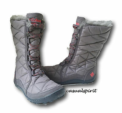 New Columbia womens waterproof insulated Gray winter snow boots Powder Summit