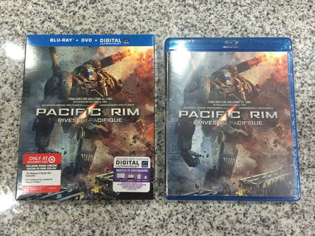 Pacific Rim Blu-ray + DVD  + UV Combo w/ Slipcover | Target Canada Exclusive NEW