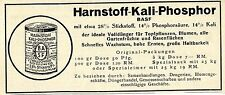 BASF Harnstoff-Kali-Phosphor DÜNGER Historische Reklame von 1929