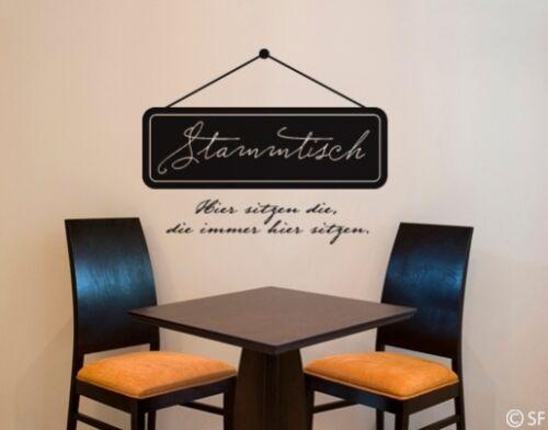 Wandtattoo Stammtisch Esstisch Kneipe Bar Bierkeller Restaurant Küche uss439