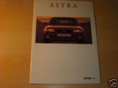 10647) Opel Astra Inkl. Gsi France Prospekt 1995
