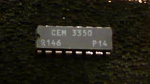 CEM3350 Dual VCF Filter IC Chip Chroma Syrinx Spirit NEW NOS TESTED