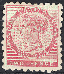 PEI-1861-2d-dull-rose-QV-perf-9-Scott-1-VF-MH-OG-catalogue-2-000