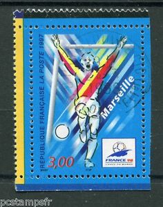 FRANCE-1997-timbre-3075-COUPE-du-MONDE-de-FOOTBALL-Marseille-oblitere