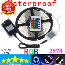 5M SMD 3528 RGB Waterproof LED Strip with IR Remote Controller + 12 Volt Supply
