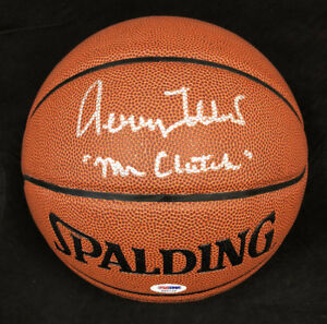 e51ca2f15 Jerry West SIGNED I O Basketball + Clutch Los Angeles Lakers PSA DNA ...