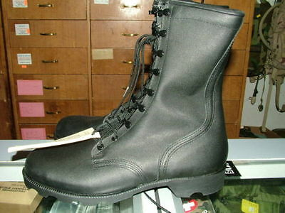 Military Uniform Supply Speedlace Leather Combat Boots Black