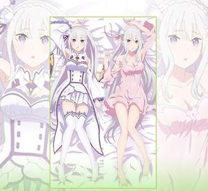 Emilia - Re Zero Japanese hug dakimakura pillow case