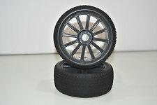 821003B Coppia Ruote Complete Buggy 1/8 Himoto Esagono Interno 12mm Cerchio Blac