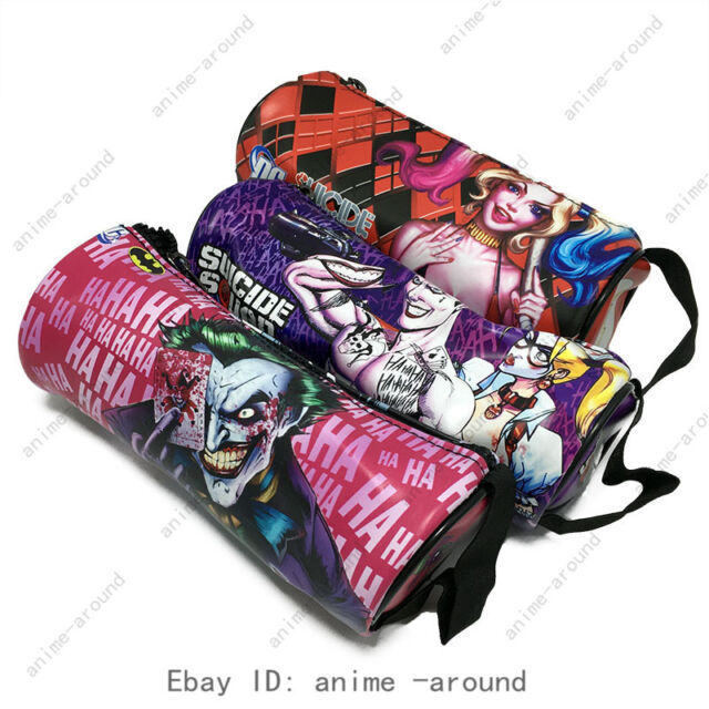 Harley Quinn Joker Suicide Squad Pencil Case Storage Pouch Cosmetic Make Up Bag