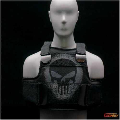 ASTOYS AS025 1//6 Punisher Skull Tactical Vest For Hot Toys Phicen 12in Figure
