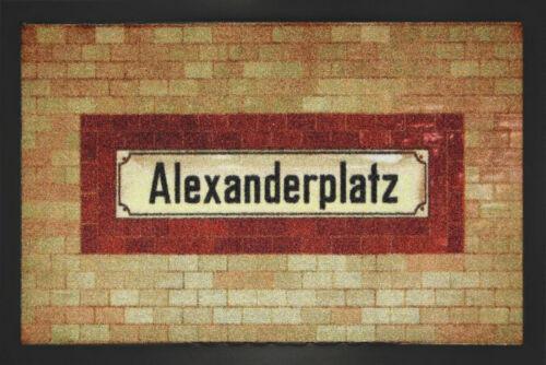 """Fußmatte /""""Alexanderplatz/"""" *Berlin*Deutschland*Platz*Türmatte*Fußabtreter*punk"""