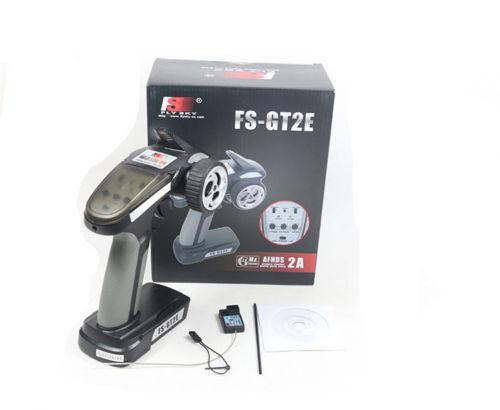 New New New Flysky FS-GT2E 2.4G 2CH Radio Controller Transmitter & Receiver Boat Car 528ecd