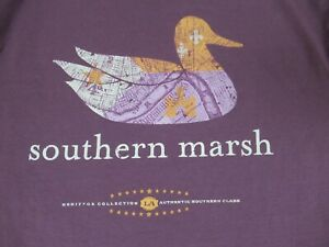 Nwot-Southern-Marsh-Anatra-Autentico-Southern-Classe-Viola-Piccolo-T-Shirt-D254