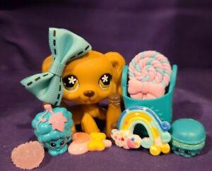 Littlest Pet Shop~#716~Cocker Spaniel~Dog~Dip Ears~Brown Flower Eyes~Authentic