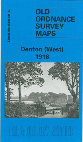 OLD ORDNANCE SURVEY MAP DENTON WEST 1916 MANCHESTER GORTON BRIDGE REDDISH
