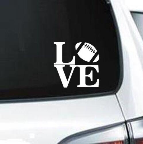 H170 Love Football Sport Laces Ball Foot Ball vinyl decal car sticker