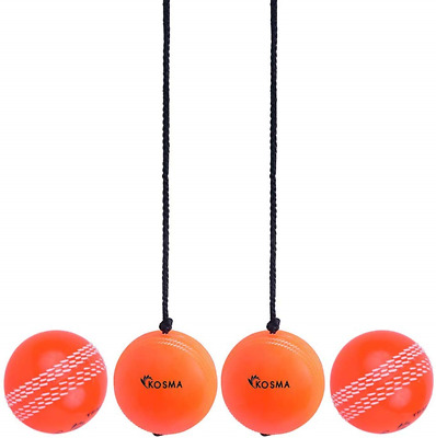 Hanging Ball For Cricket Practice With Reaction String in Red Colour /& Wind Ball Kosma Set of 2 Pc Cricket ball Set