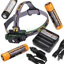 Fenix HL60R 950 Lumen CREE LED headlamp w/3X rechargeable 18650 Li-ion batteries