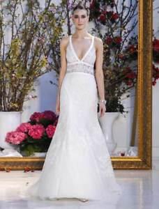 ac15e7d63e2 Image is loading Authentic-Anne-Barge-Calliandra-Wedding-Dress-Blue-Willow-