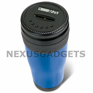 Car-Coin-Counter-Counting-Cup-Electronic-Digital-Money-Change-Piggy-Bank-BLUE-FS