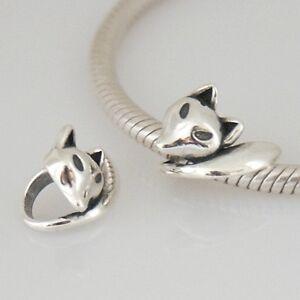 FOX-Deco-Animal-Solid-925-sterling-silver-European-charm-bead