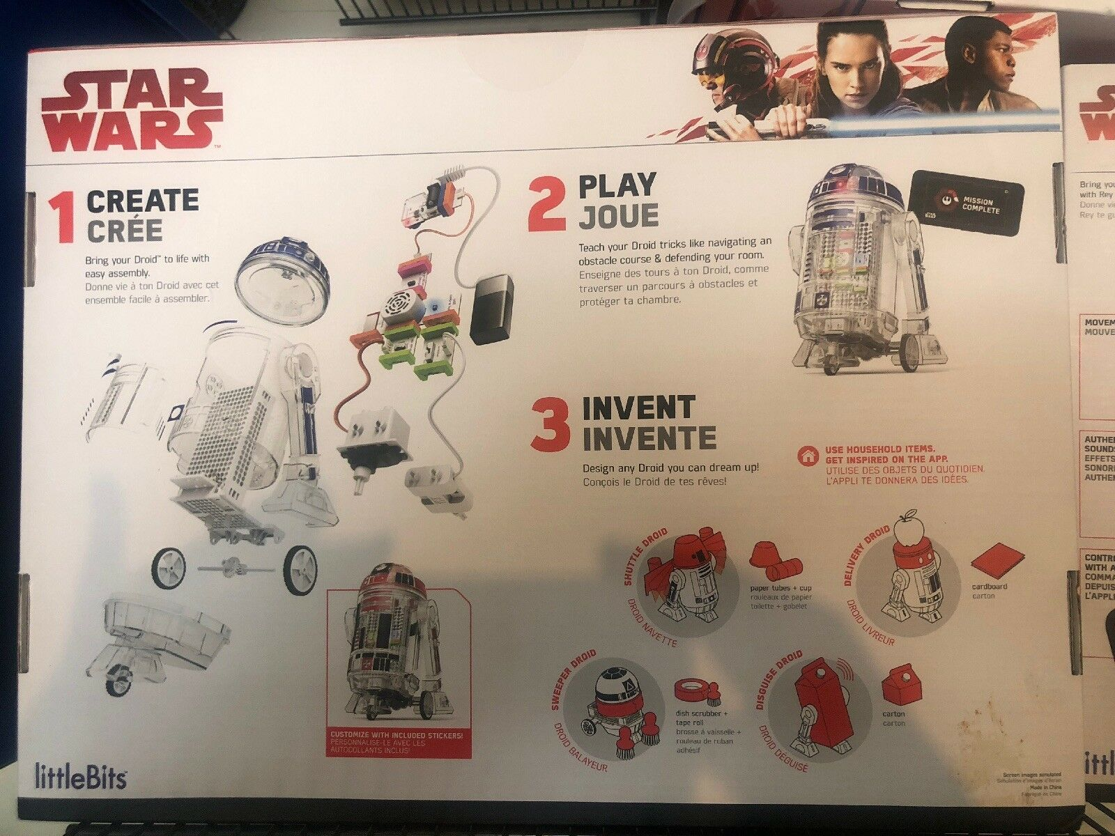 LittleBits Star Wars Droid Inventor Kit STEM Build Your Own Robot R2D2 BRAND NEW